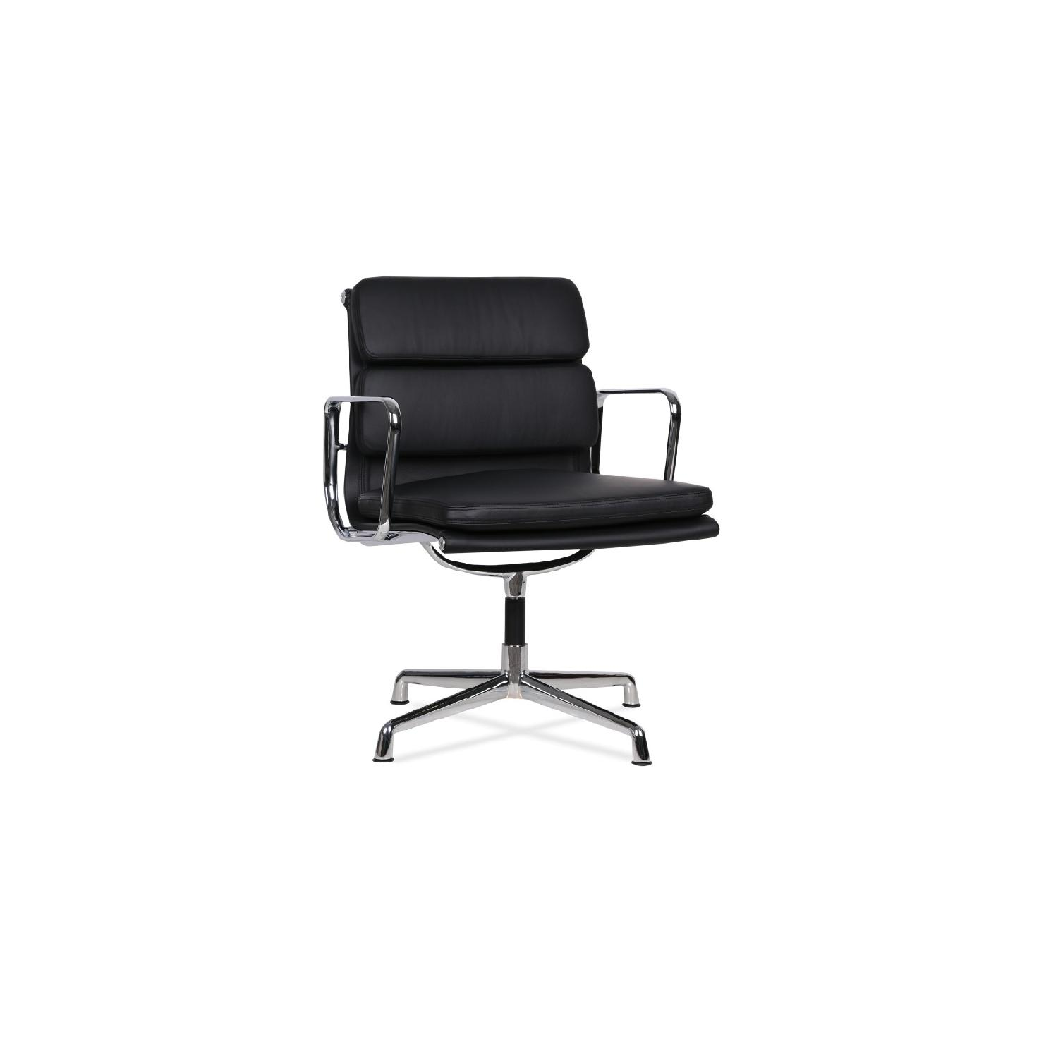 Aluminum Group Style Softpad Management Chair Replica in Black