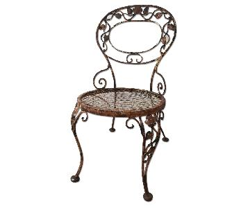 Victorian style Wrought Iron Outdoor Chairs