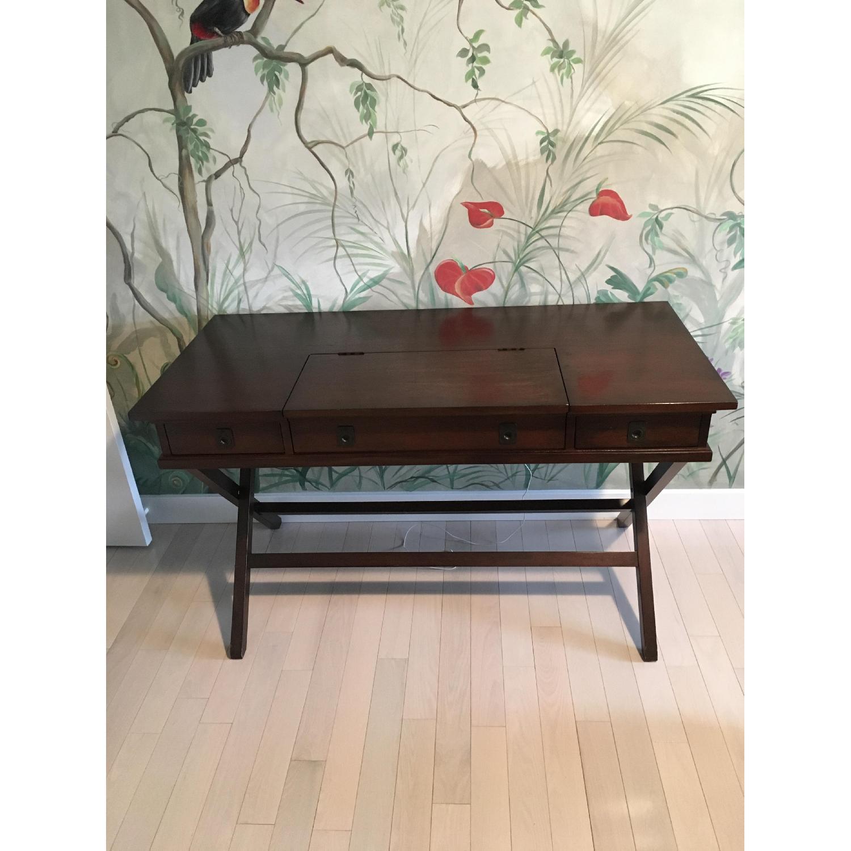 Pottery Barn Espresso Wood Desk-0