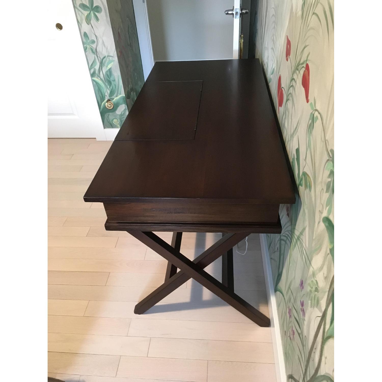 Pottery Barn Espresso Wood Desk-1