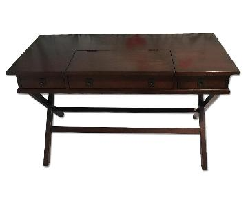 Pottery Barn Espresso Wood Desk