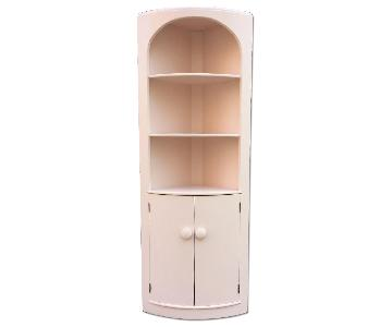 Corner Cabinet Painted in Millennial Pink