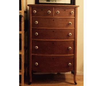 Wooden Dresser w/ Mirror