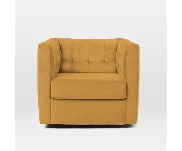 West Elm Rochester Swivel Armchair