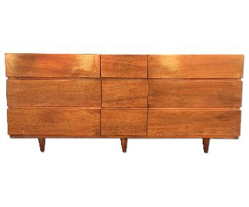 American of Martinsville Mid Century Nine Drawer Dresser