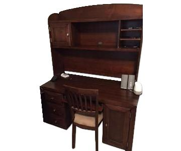 Raymour & Flanigan 2 Piece Wood Desk w/ Chair