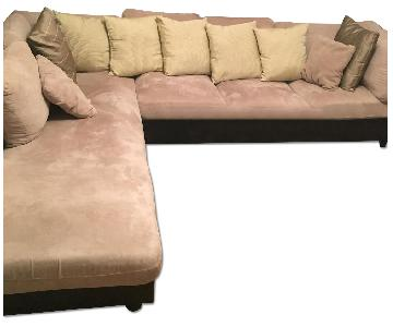 Suede Sectional Sofa