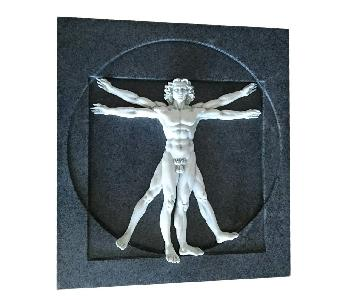 Vitruvian Man Wall Sculpture