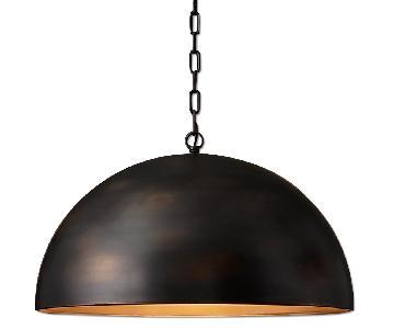 Restoration Hardware Antiqued Metal Dome Pendant
