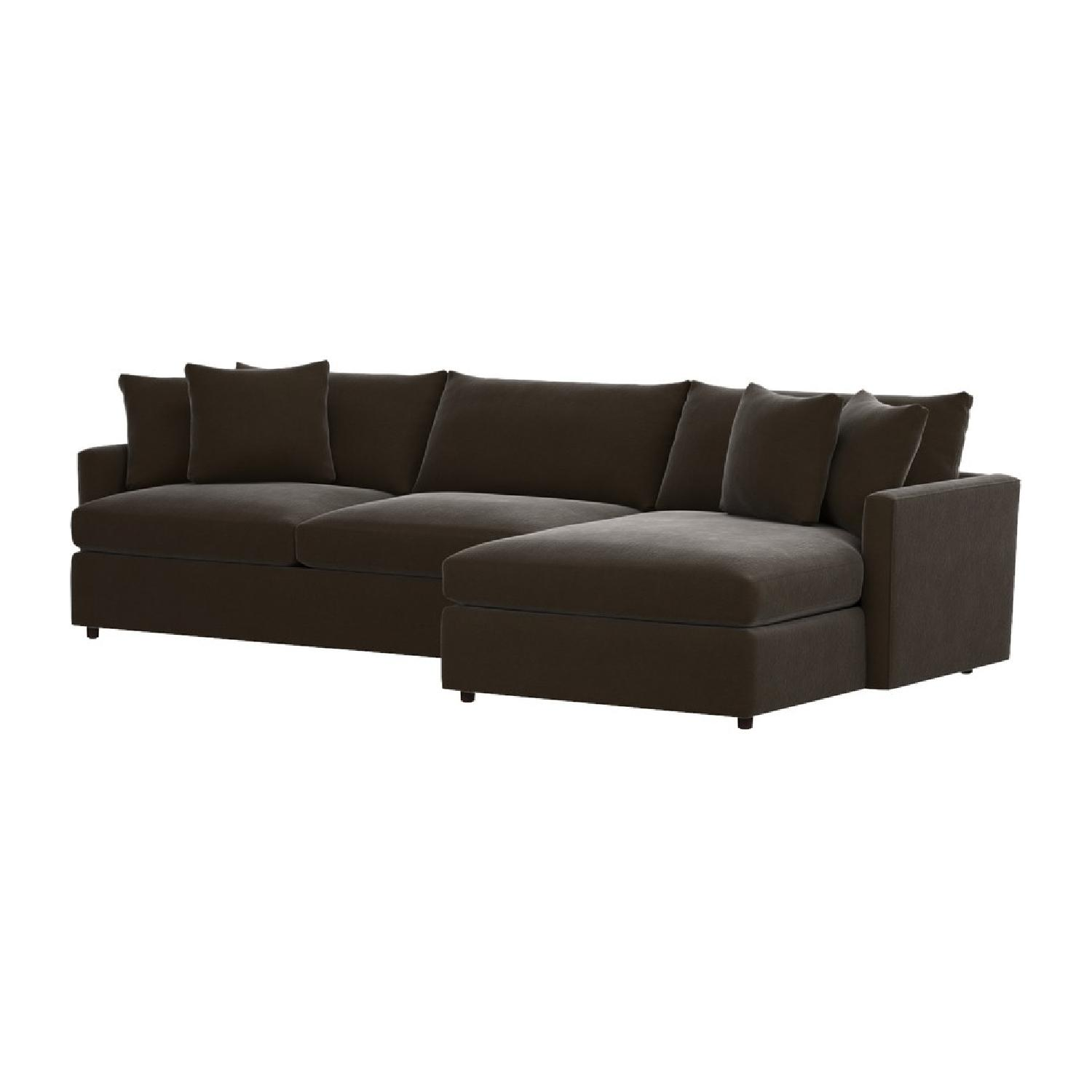 Crate Barrel Lounge 2Piece Sectional Sofa AptDeco