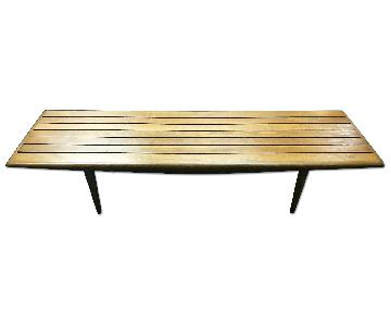 Vintage Mid Century Teak Bench/Coffee Table
