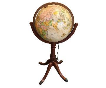 Vintage Replogle Lighted Globe