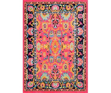 nuLOOM Pink Floral Persian Rug