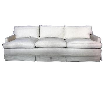 Down Filled Modern Raw Silk Sofa