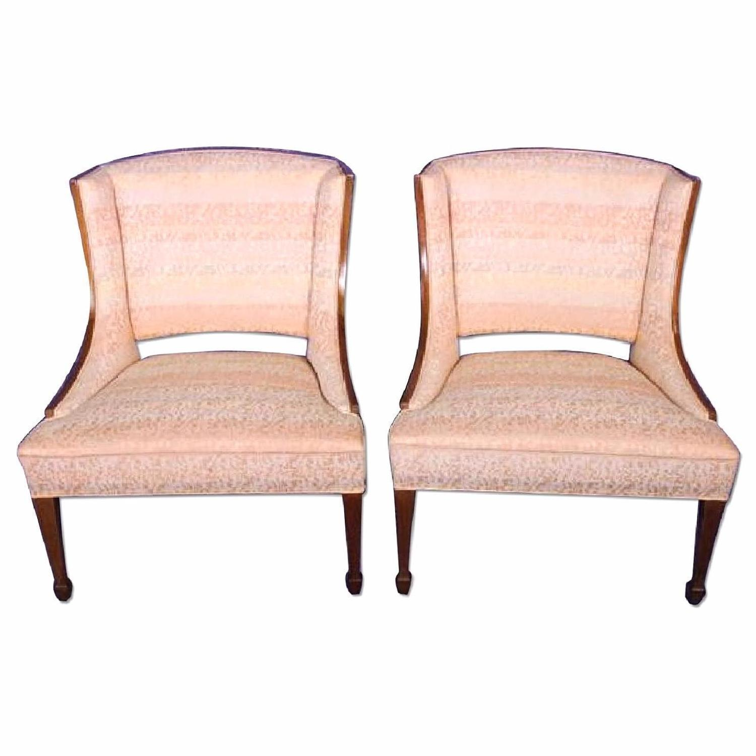 Modern Fruitwood Side/Armchairs