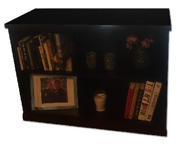 Pottery Barn Bedford 2-Shelf Bookshelf in Espresso