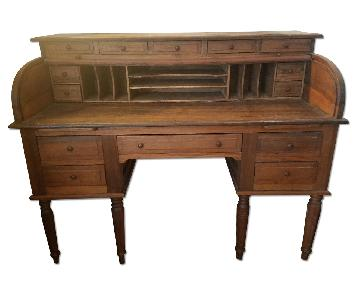 Antique Roll Top Desk from the Philippines