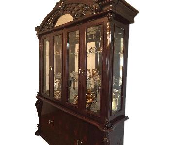 Glass Framed Wood China Cabinet