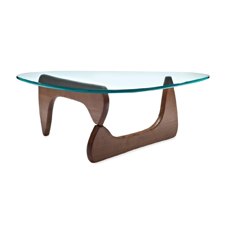 Raw Edge English Elm Pedestal Coffee Table AptDeco