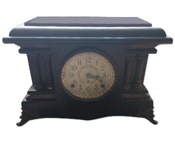 1900's Seth Thomas Antique Adamantine Mantle Clock