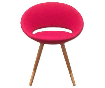 Wool Pink Dining Chairs