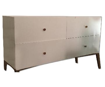 West Elm Tall Storage 4-Drawer Dresser in White