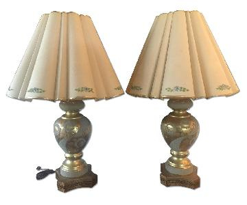 Mid Century Hollywood Regency Gilt Lamps