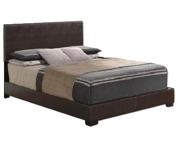 Global Furniture USA White Queen Size Bed Frame
