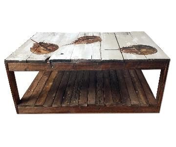 Horseshoe Crab Reclaimed Wood Coffee Table