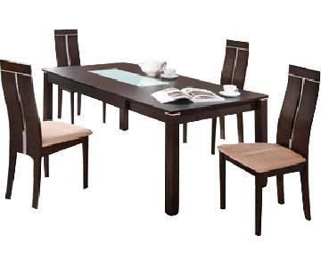 Global Furniture USA Dark Walnut 5-Piece Dining Set
