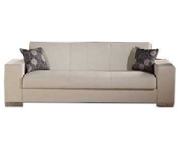 Sunset Istikbal Kobe Escudo Cream 3 Seat Sleeper Sofa