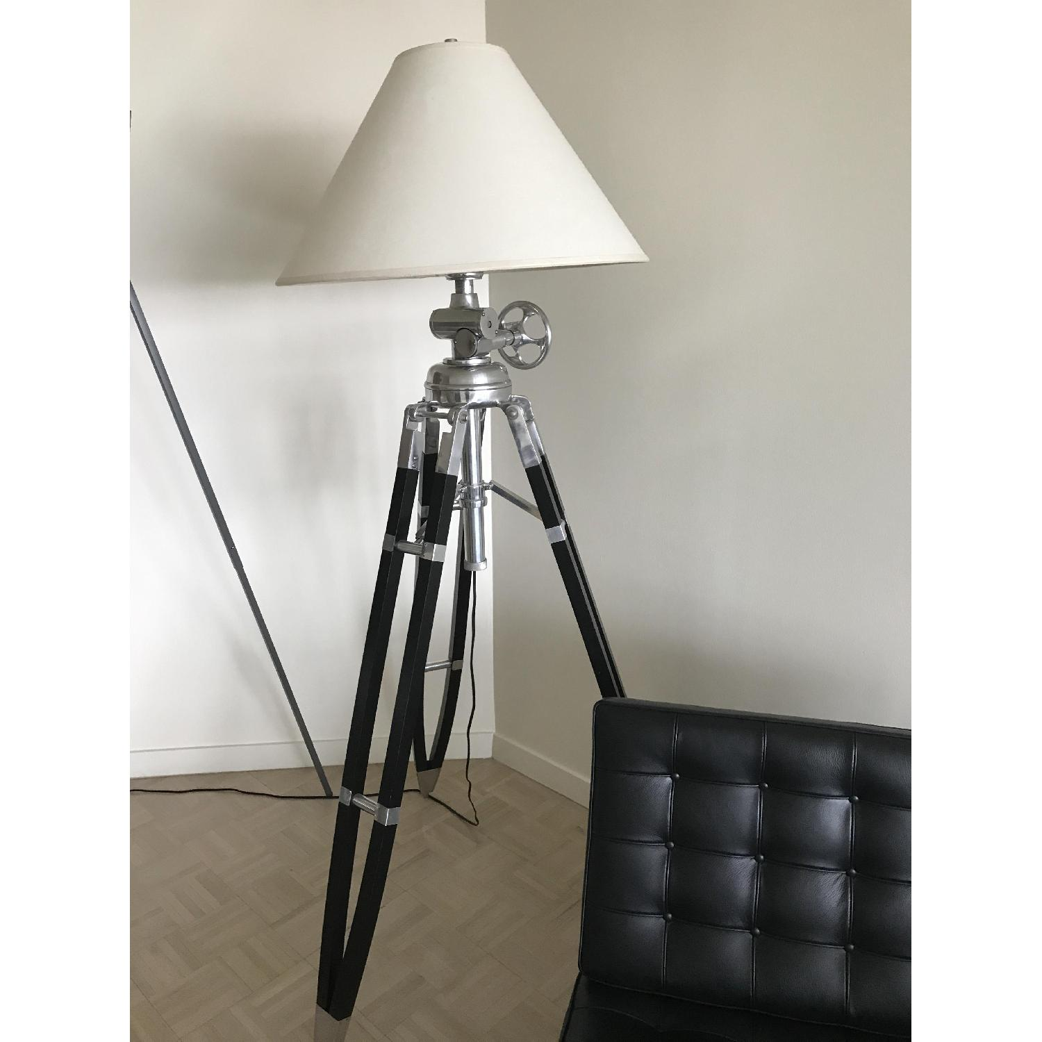 Restoration hardware royal marine tripod floor lamp aptdeco for When is restoration hardware lighting sale
