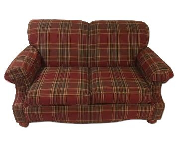 Bassett Plaid Loveseat