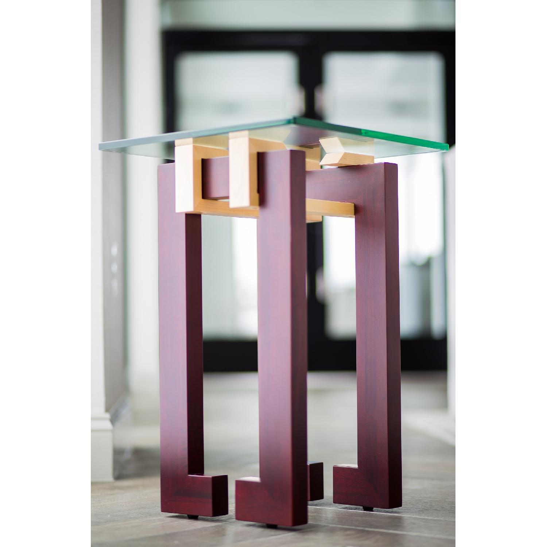 Douglas Design Ant Walnut Maple Side Table - image-3