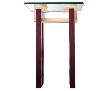 Douglas Design Ant Walnut Maple Side Table