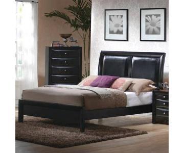 Coaster Fine Furniture Leather Panel-Backed Full Bed Frame