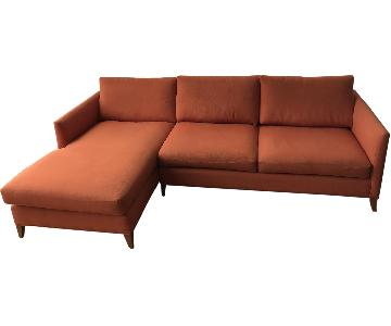 Crate & Barrel Klyne II 2-Piece Left Arm Chaise Sectional Sofa