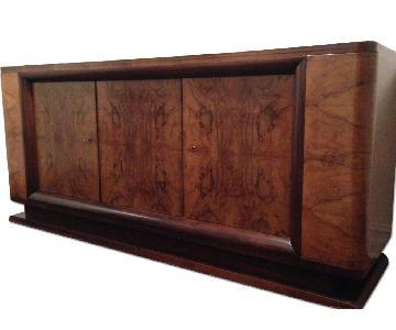 Vintage Deco Burlwood Credenza