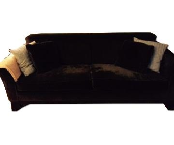 Pottery Barn Chocolate Brown Couch