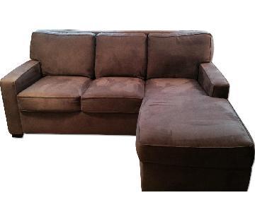 Room & Board Gray Sleeper Sectional Sofa