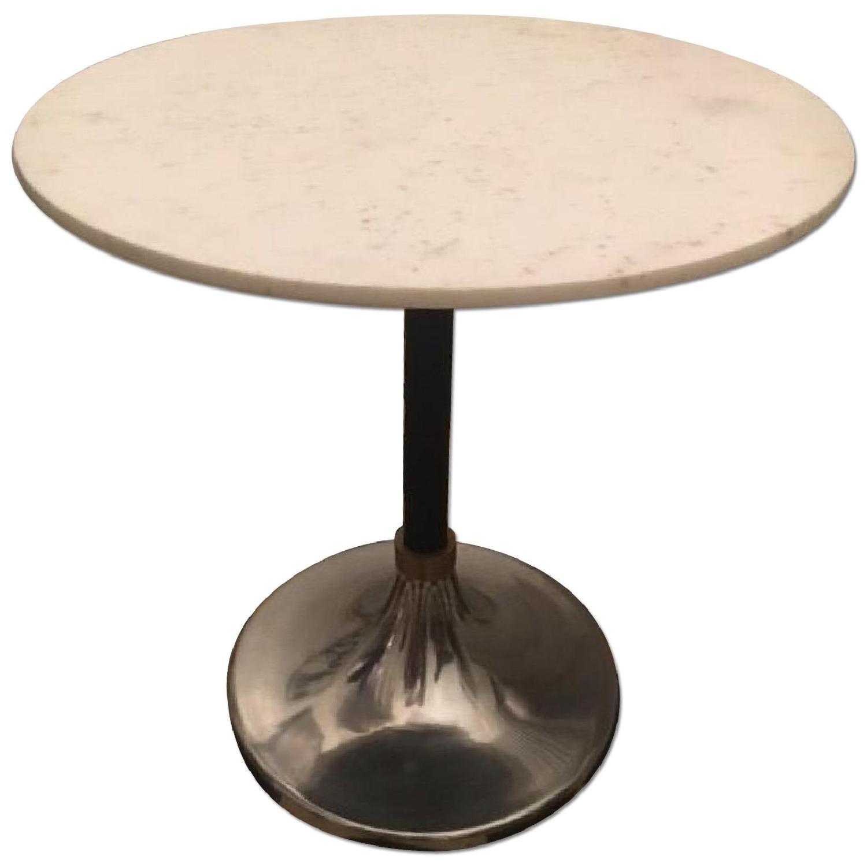 CB Hackney Marble Top CocktailBistro Table AptDeco - Cb2 haven coffee table