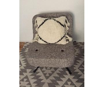Contemporary Accent Chair & Ottoman