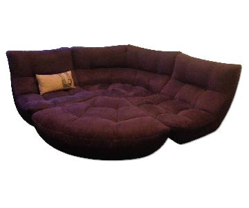 Chateau D'ax 4-Piece Curved Sectional Sofa