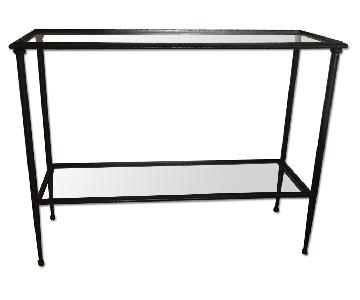 Crate & Barrel 2 Layer Glass Table
