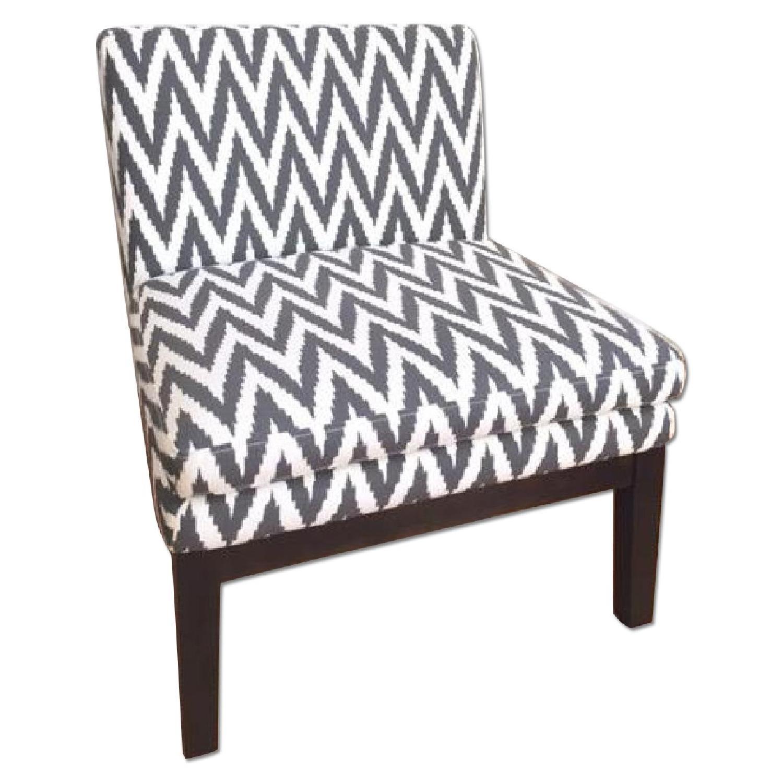 Slipper Chair West Elm Chevron Slipper Chair Aptdeco