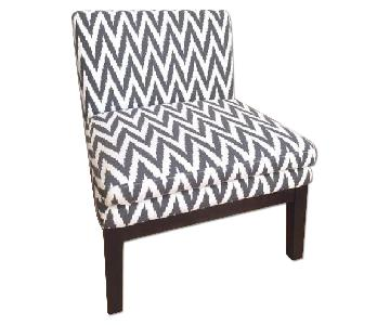 West Elm Chevron Slipper Chair