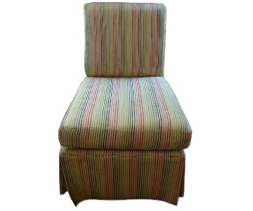 Stripped High Back Slipper Chair