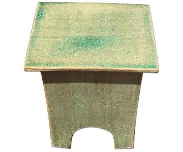 Green Asian Inspired Indoor/Outdoor Side Table
