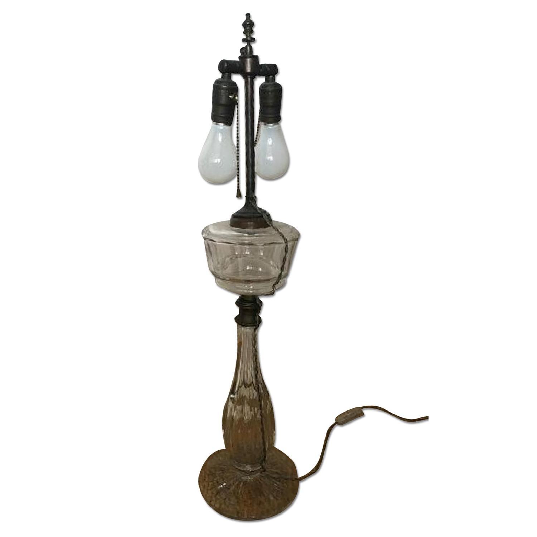 Vintage Leviton Glass Table Lamp - AptDeco