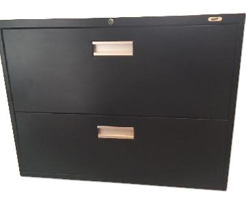 Staples 2-Drawer Lateral Filing Cabinet